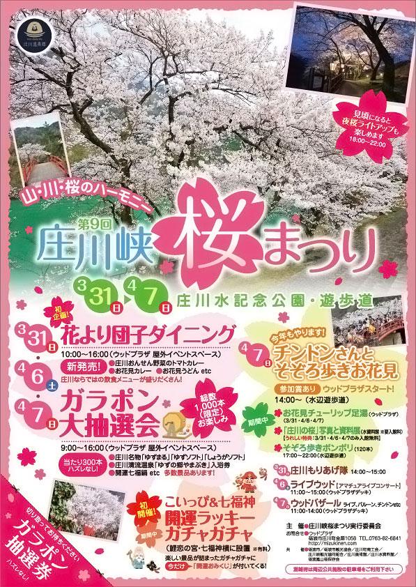 「第9回 庄川峡桜まつり2019」のチラシ