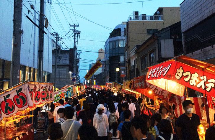 富山最大級のお祭り、山王祭(さんのさん)開催中の日枝神社までの道の混み具合