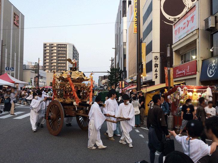 富山最大級のお祭り、山王祭(さんのさん)の神輿