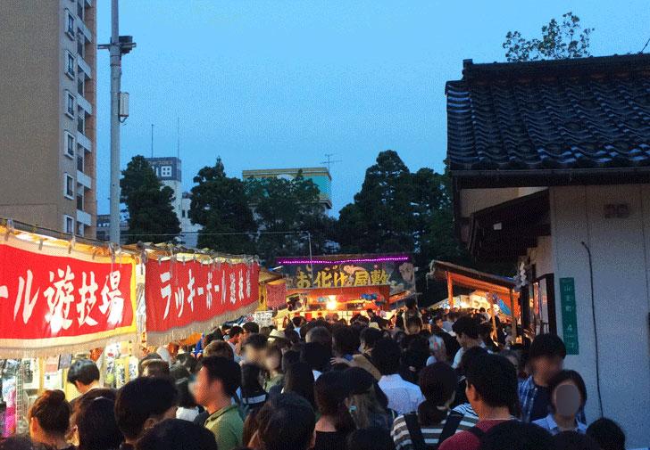 富山最大級のお祭り、山王祭(さんのさん)のお化け屋敷