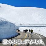【行き方】雪の大谷へのアクセスを徹底解説【富山側&長野側】