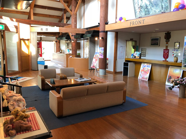 砺波市夢の平スキー場のコスモス荘のロビー