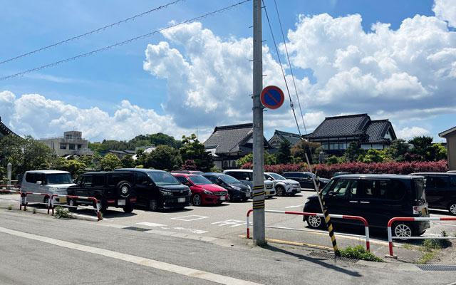 富山県氷見市の光禅寺横の無料駐車場