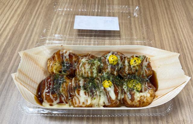 SNSで人気の本場大阪のたこ焼き移動販売「冨よし商店」のたこ焼き「ソース+マスタード」