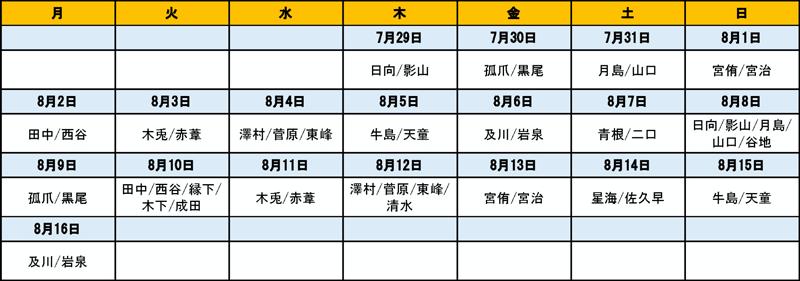富山大和で開催されるハイキュー!!展 富山の来場者特典のスケジュール