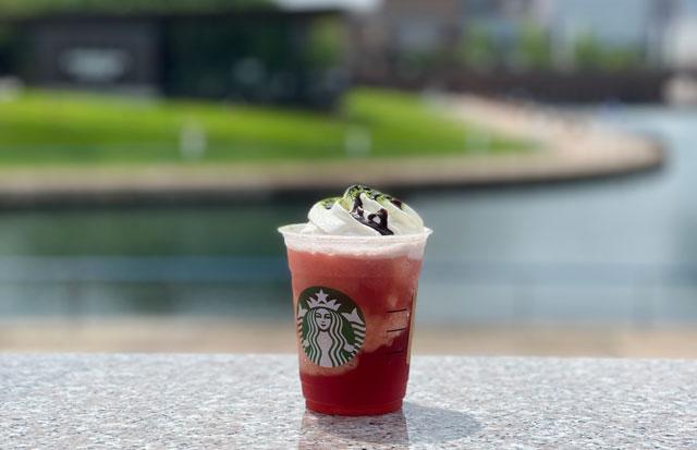 スターバックスコーヒー47JIMOTOフラペチーノ富山「まるでスイカっちゃフラペチーノ」の写真