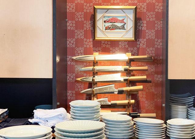 富山市のミシュラン一つ星の寿司屋「鮨人(すしじん)」の包丁