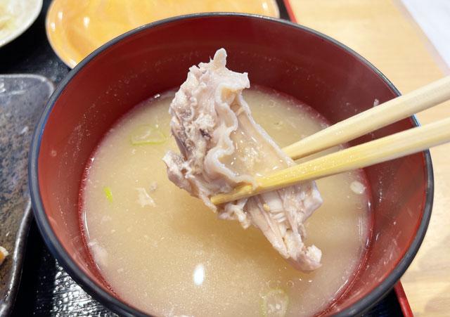 富山県氷見市の回転寿司「氷見すしのや」のあら汁