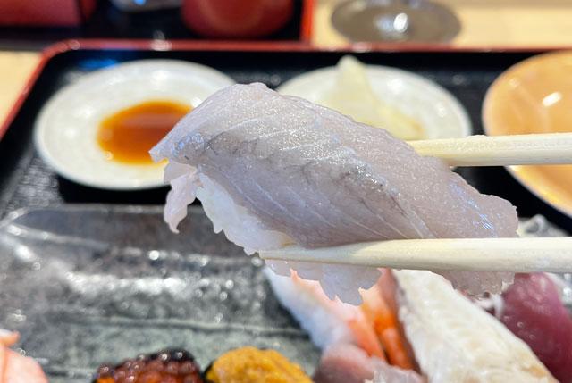 富山県氷見市の回転寿司「氷見すしのや」の寿司ネタ