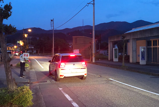 富山県砺波市の庄川観光祭の無料駐車場