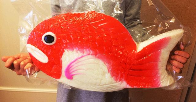 富山の結婚式のお祝い「鯛の細工かまぼこ」