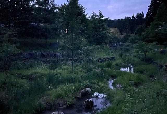 仁歩ほたるの里 農村公園の蛍が見られる小川2