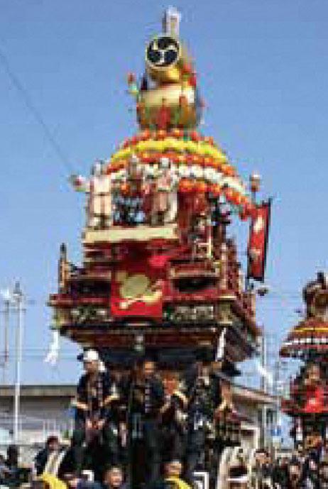 海老江の曳山祭りの中町の山車
