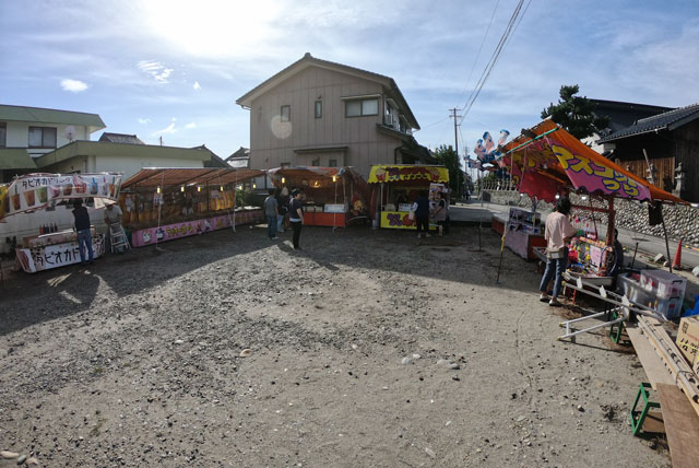 海老江曳山祭りの屋台・露店