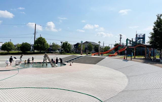 富山県射水市「グリーンパーク大門」の水遊びスポット