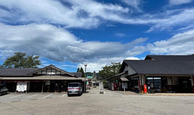 富山県南砺市の道の駅井波の駐車場