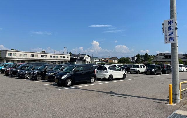 富山県射水市「富山県立大学」の東駐車場