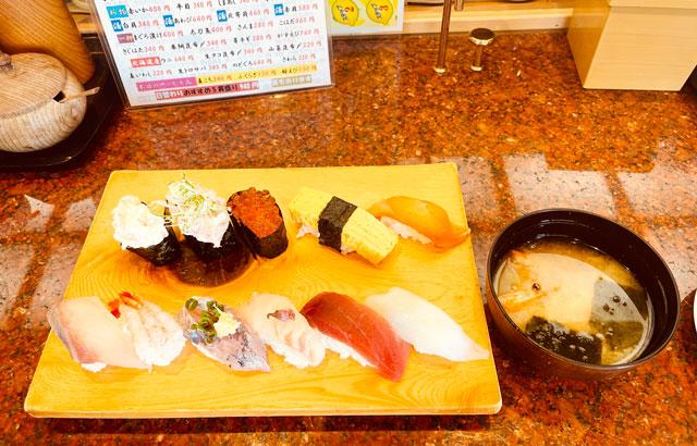 富山県の回転寿司「祭ばやし」の祭ランチ