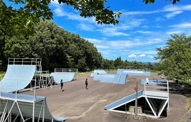 桜ヶ池クアガーデンのスケートパーク