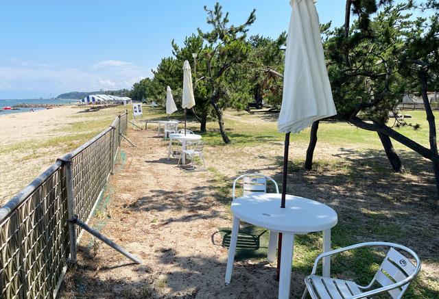 富山県氷見市の島尾海水浴場と島尾キャンプ場