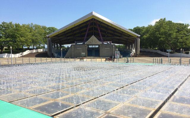 富山県射水市県民公園太閤山ランドの昔の噴水パラダイス