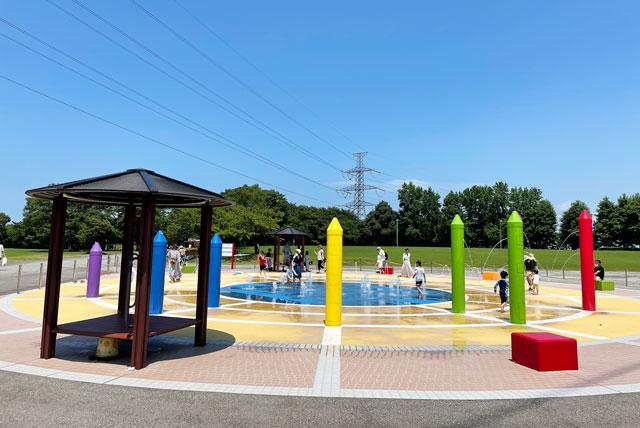 富山県射水市県民公園太閤山ランドの噴水パラダイス