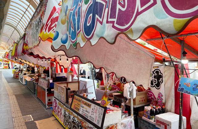 高岡七夕祭り、高岡駅前の露店・屋台・出店