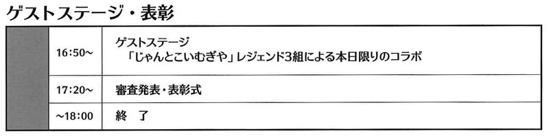 富山県南砺市城端の「第20回じゃんとこいむぎや2019」のゲストステージ・表彰