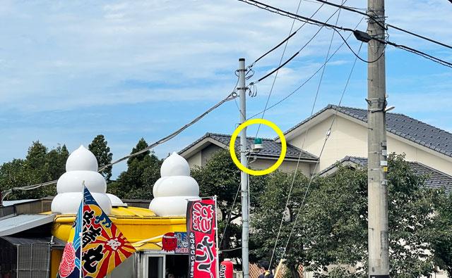 富山市呉羽北代のたこ焼き竜清丸の営業中のランプ