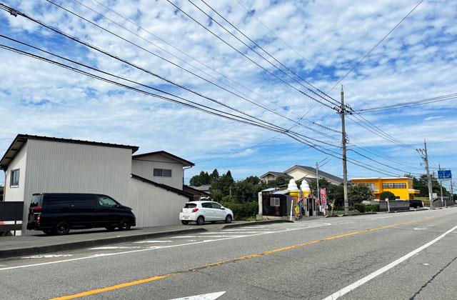富山市呉羽北代のたこ焼き竜清丸の駐車場